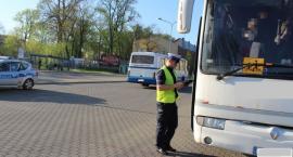 Punkt kontroli autobusów w Łowiczu