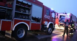 Pożar domu pod Łowiczem. Jedna osoba poszkodowana