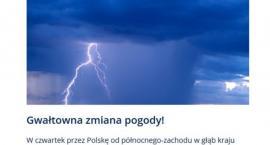 Ostrzeżenie meteorologiczne dla powiatu łowickiego