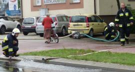 Strażacy usuwają skutki porannej nawałnicy