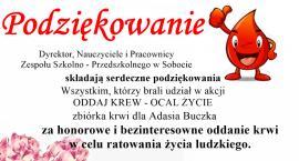Sukces zbiórki krwi dla 10-letniego Adasia Buczka