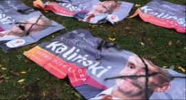 Łowicz: Zniszczone banery. Walka przedwyborcza czy akt wandalizmu?