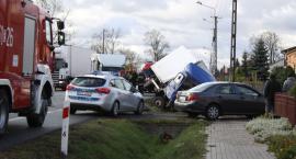 Dwa auta zderzyły się na DK nr 14 pod Łowiczem