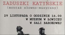 Zaduszki Katyńskie w łowickim Muzeum