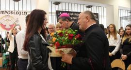 Biskup Wojciech Osial z wizytą w II LO