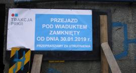 Zamknięto przejazd pod wiaduktem na ul. Arkadyjskiej w Łowiczu