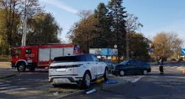 Wypadek na skrzyżowaniu Ułańskiej i Topolowej