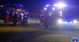 Wypadek w Łyszkowicach: pieszy poważnie ranny