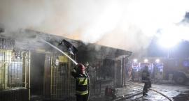 Ogromny pożar na targowisku miejskim