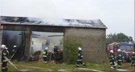 Ogromny pożar stodoły w Starych Grudzach