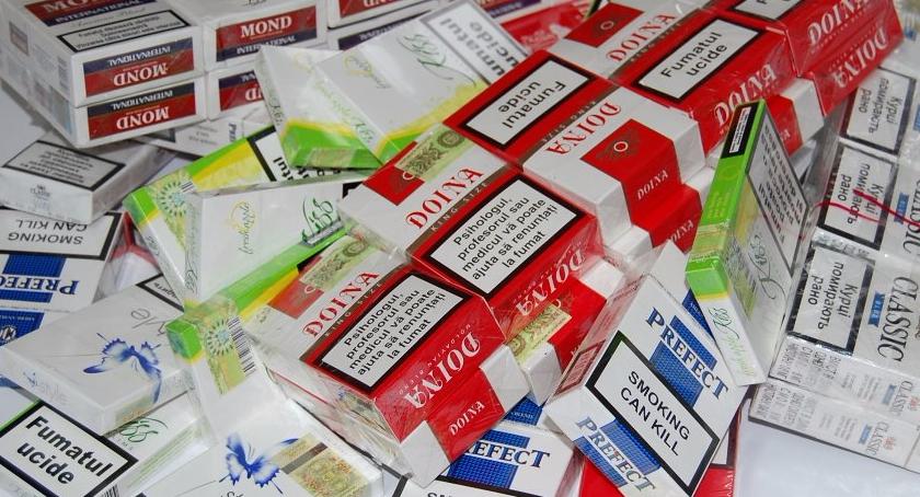 Kryminalne sprawy, śledztwa, Papierosy akcyzy Kampinosem - zdjęcie, fotografia