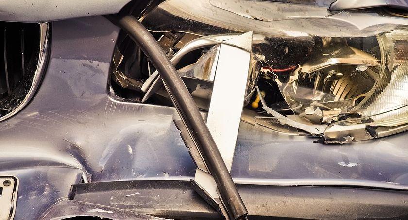 Wypadki, Zdarzenie drogowe Pasikoniach - zdjęcie, fotografia