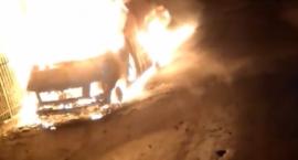 Tajemniczy pożar samochodu w Izabelinie