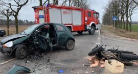 Wypadek na drodze nr 580 w miejscowości Łazy