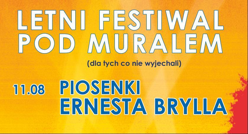 Imprezy, Piosenki Ernesta Brylla Scenie Letniego Festiwalu Muralem - zdjęcie, fotografia