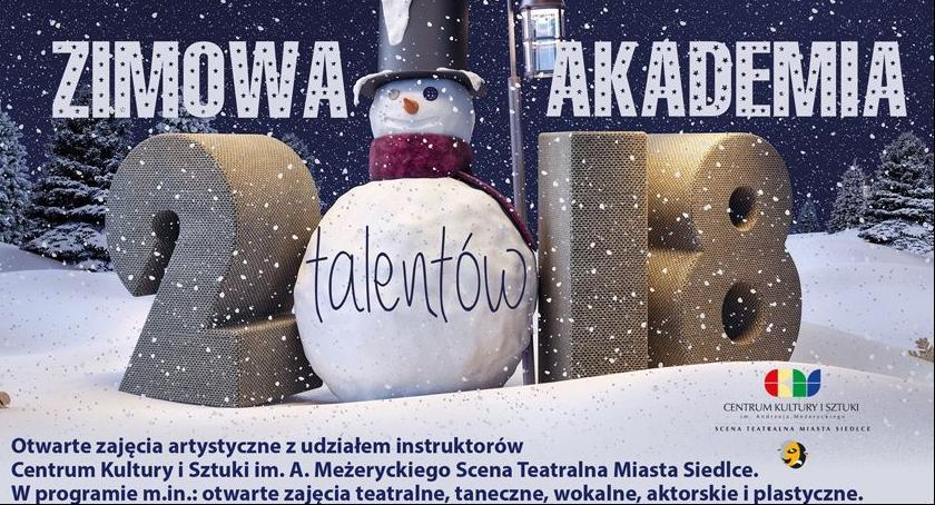 Informacje, Zimowa Akademia Talentów - zdjęcie, fotografia