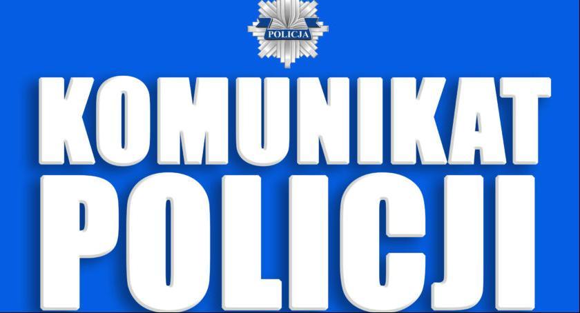 Kronika policyjna, Komunikat Policji - zdjęcie, fotografia