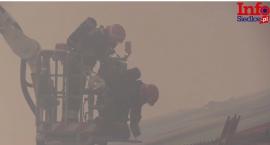 Pożar kurnika w Jagodni (video)