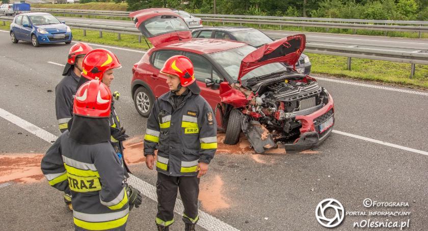 Na sygnale, Kolizja zaledwie kilometr wcześniej wypadku - zdjęcie, fotografia
