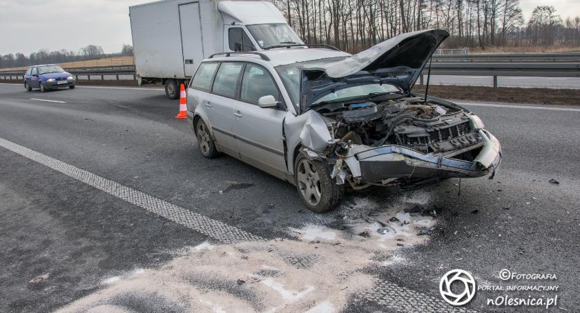 Na sygnale, Poważny wypadek trasie - zdjęcie, fotografia