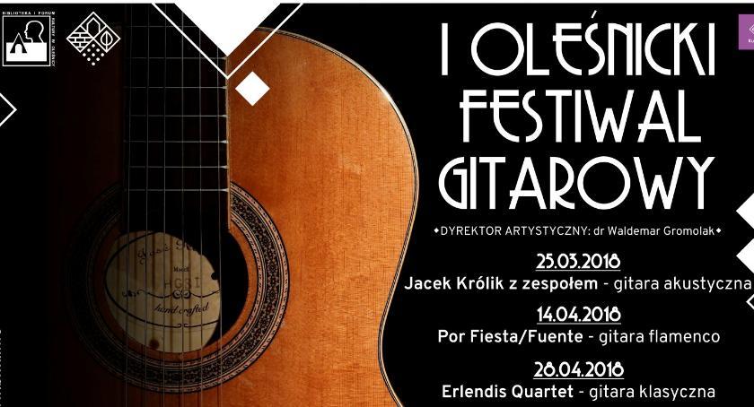 Koncerty, Oleśnicki Festiwal Gitarowy - zdjęcie, fotografia