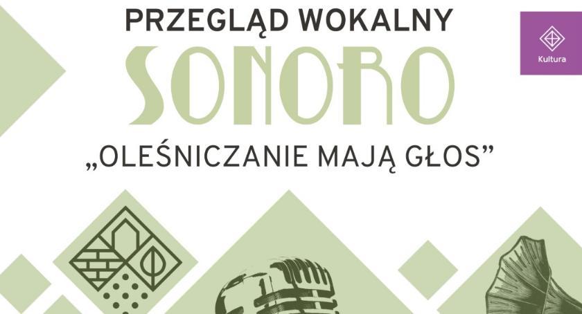 Kultura, Wyniki przesłuchań Przeglądu Wokalnego SONORO - zdjęcie, fotografia