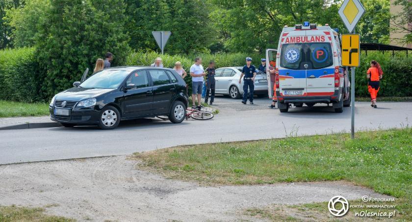 Na sygnale, Potrącenie rowerzystki Podchorążych - zdjęcie, fotografia