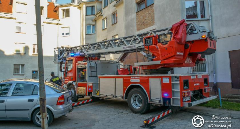 Na sygnale, Pożar pralki mieszkaniu Okrężnej osoby stanie ciężkim - zdjęcie, fotografia