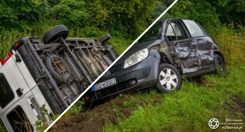Na sygnale, Kolizja trzech dachowanie koło Świerznej wniosek sądu utrata prawa jazdy - zdjęcie, fotografia