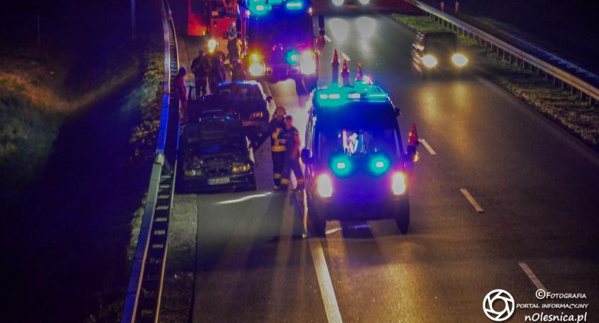 Na sygnale, Wypadek dwóch trasie ucieczka sprawca wpływem alkoholu - zdjęcie, fotografia
