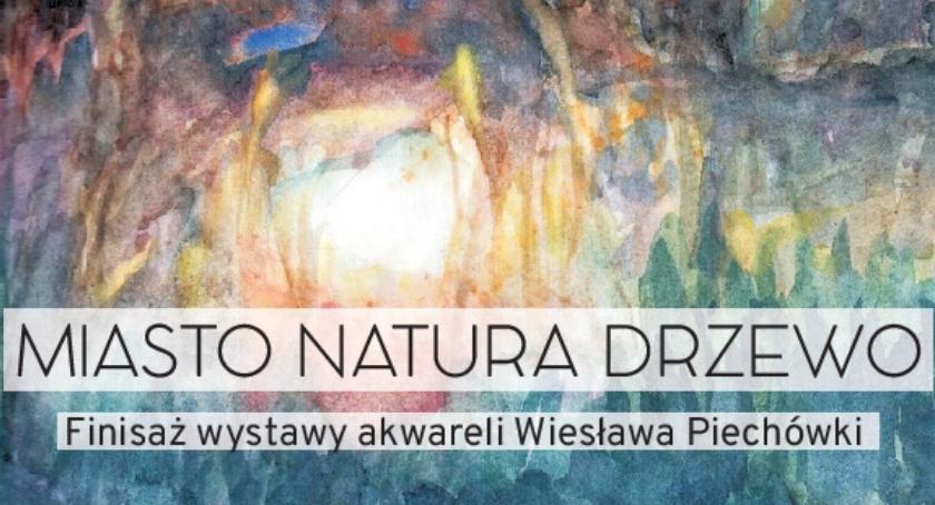 """Wystawy, Finisaż wystawy akwareli Miasto natura drzewo"""" - zdjęcie, fotografia"""