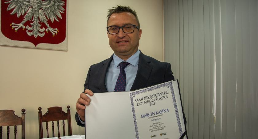 Wydarzenia, Wójt Marcin Kasina zajął miejsce plebiscycie Gazety Wrocławskiej kategorii Wójt - zdjęcie, fotografia