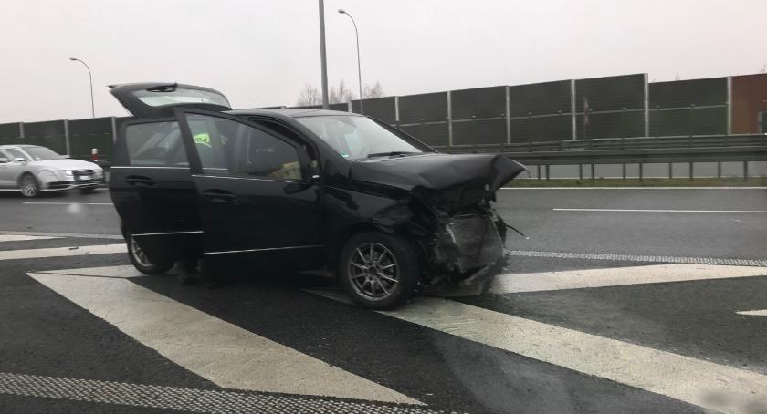 Na sygnale, Wypadek węźle trasy - zdjęcie, fotografia