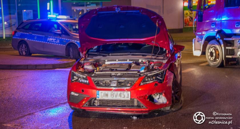 Na sygnale, Kolizja dwóch pojazdów Lwowskiej - zdjęcie, fotografia