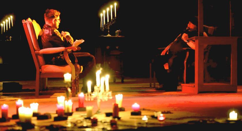 """Teatr, """"Spowiedź diabła"""" rejestracja filmowa sztuki teatralnej - zdjęcie, fotografia"""