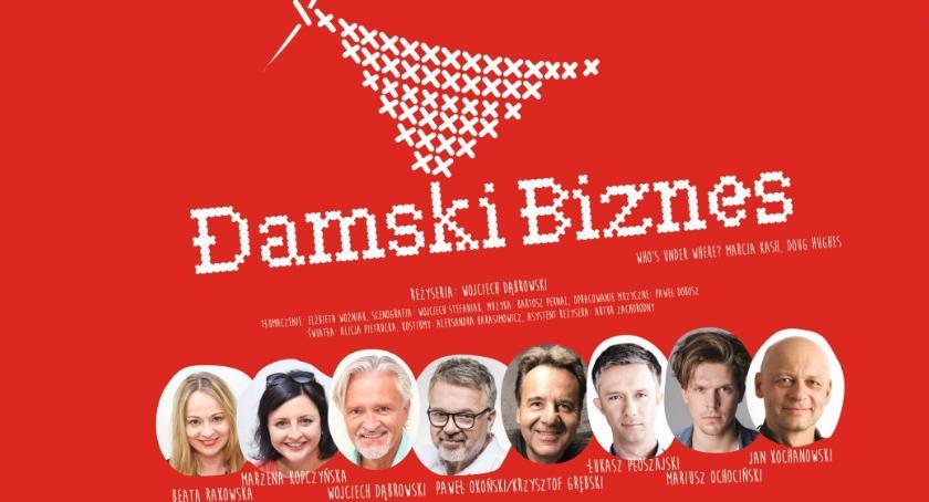 """Teatr, Spektakl """"Damski biznes"""" wykonaniu aktorów Wrocławskiego Teatru Komedia - zdjęcie, fotografia"""