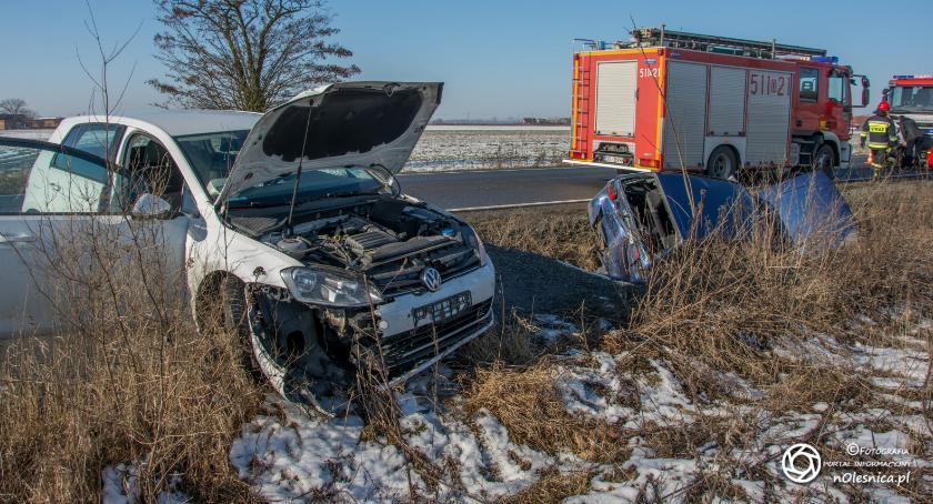 Na sygnale, Wypadek koło Nowosiedlic - zdjęcie, fotografia