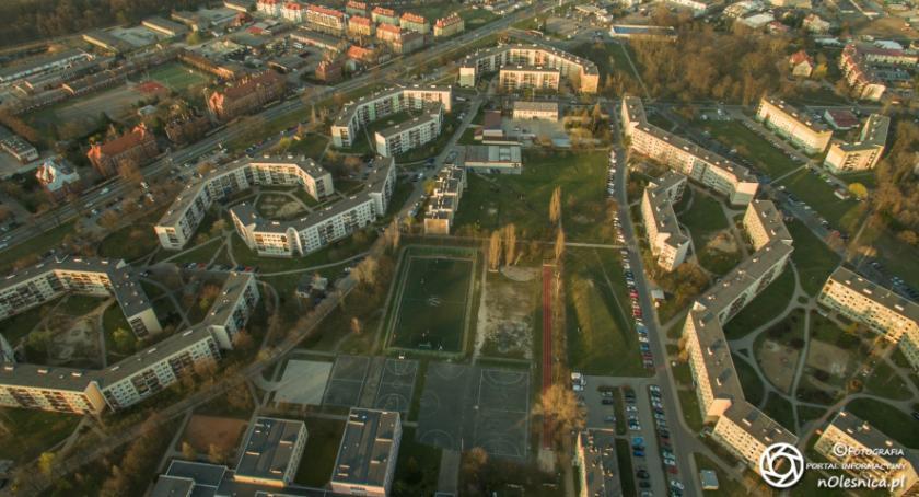 Wydarzenia, Oleśnica okiem drona zobacz swoje miasto góry - zdjęcie, fotografia