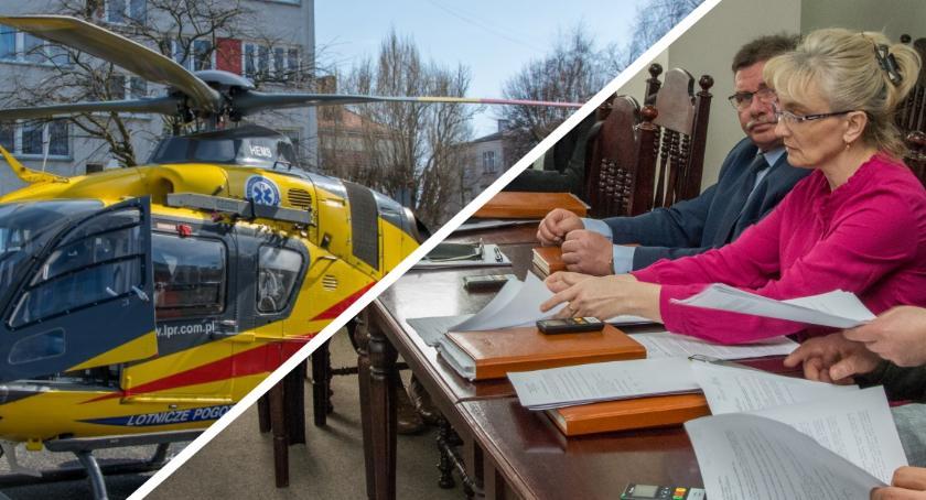 Wydarzenia, Smardzów problem strażakami zabezpieczającymi lądowanie - zdjęcie, fotografia