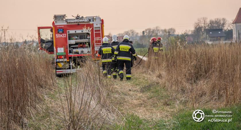 Na sygnale, Pożar Cieślach mężczyzna został poparzony - zdjęcie, fotografia
