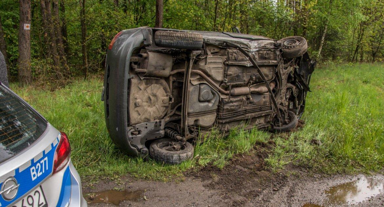 Na sygnale, Wypadek koło Ostrowiny - zdjęcie, fotografia