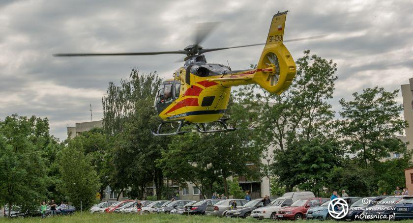 Na sygnale, Śmigłowiec lądował Serbinowie VIDEO - zdjęcie, fotografia