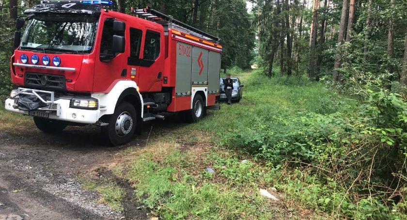 Na sygnale, Skoda uderzyła drzewo koło Malerzowa - zdjęcie, fotografia