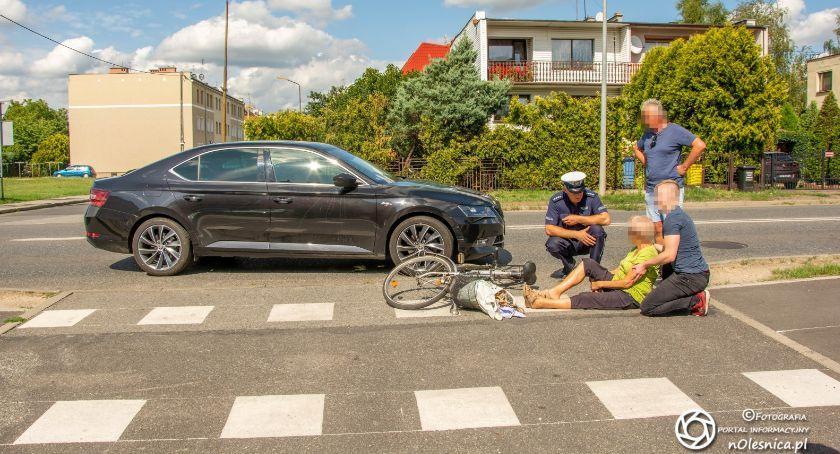 Na sygnale, Potrącenie rowerzystki Krzywoustego - zdjęcie, fotografia