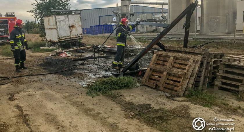 Na sygnale, Pożar szopy Energetycznej - zdjęcie, fotografia