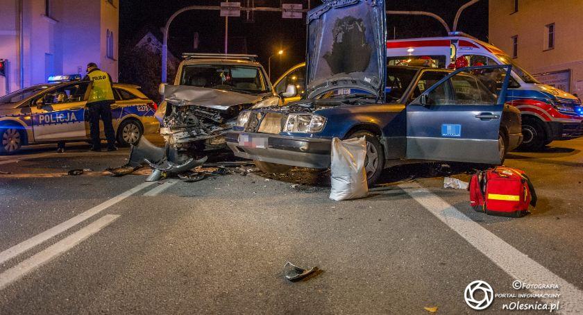 Na sygnale, Wypadek skrzyżowaniu Skłodowskiej Lwowskiej Listopada - zdjęcie, fotografia