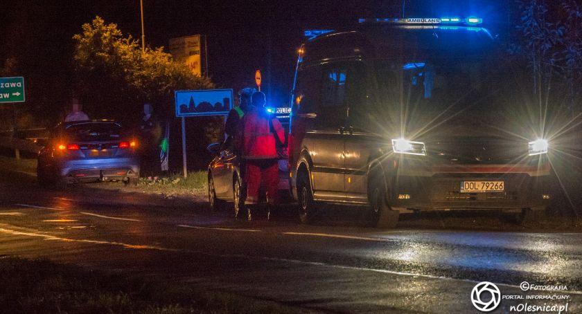 Na sygnale, Potrącenie pieszego Dobroszyckiej przechodzeń miał promila - zdjęcie, fotografia