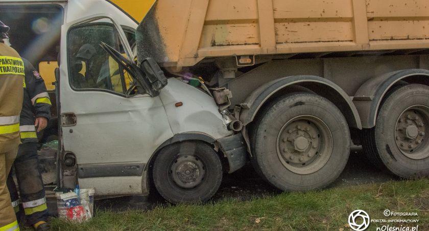 Na sygnale, Wypadek pobliżu Ligoty Małej - zdjęcie, fotografia