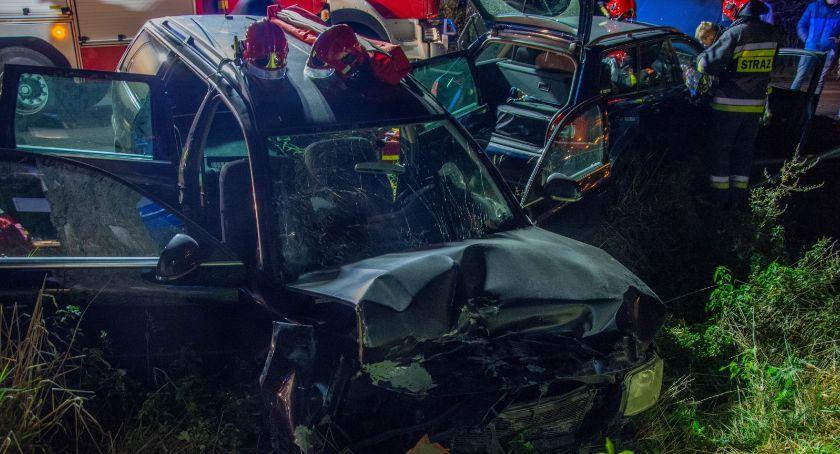 Na sygnale, Poważny wypadek dwóch Miodarach - zdjęcie, fotografia