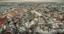 Oleśnica okiem drona - na zimowo